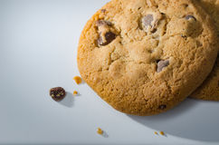 Single Chocolate chip cookie Royalty Free Stock Images