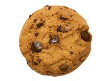 Single Chocolate Chip Cookie w/ Path Royalty Free Stock Photo