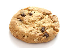 Single chocolate chip cookies Stock Photography