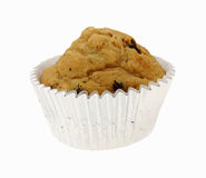Single Chocolate Chip Muffin Baking Cup Royalty Free Stock Photos