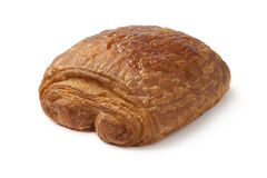 Single chocolate croissant Stock Photos