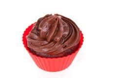 Single Chocolate Cupcake Stock Photography