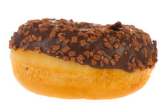 Single chocolate donut Royalty Free Stock Photos