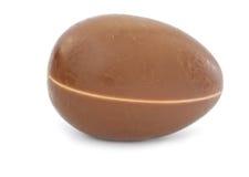 Single chocolate egg Stock Photography