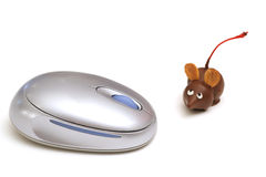 Single chocolate mouse beside mouse stock image