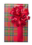 Single Christmas gift box Royalty Free Stock Photography