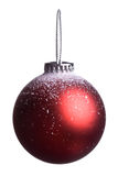 Single christmas red ball isolated Royalty Free Stock Photo