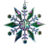Single christmas star isolated against white Stock Image
