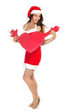 Single christmas woman Royalty Free Stock Photography