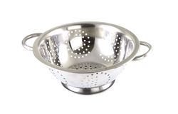 Single chrome strainer Stock Photos