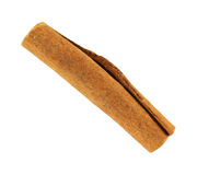Single cinnamon stick Royalty Free Stock Images