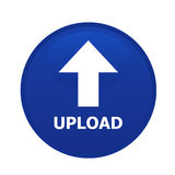 Single Circle upload button Stock Image