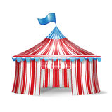 Single circus tent Stock Images