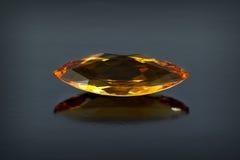 Single citrine gemstone. Stock Image