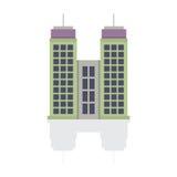 Single City Building On White Background Stock Image