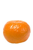 Single clementine. Isolated against a white background stock photography