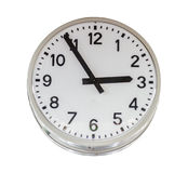 Single clock subject for decorate design project. Royalty Free Stock Photography