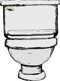 Single closed toilet illustration vector illustration