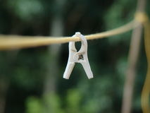 Single cloth peg with intentional blur Royalty Free Stock Photography