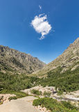 Single cloud above Restonica valley in Corsica Stock Images