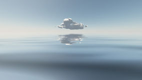 Single Cloud Above Still Water Royalty Free Stock Photo
