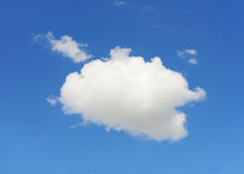 Single cloud with blue sky Stock Photography