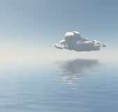 Single Cloud Flaots Above Water Stock Photo
