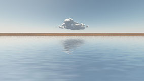 Single cloud on horizon Royalty Free Stock Photos
