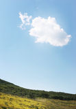 Single Cloud In Sky Royalty Free Stock Image