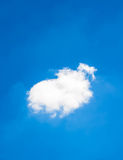 Single cloud on sky Royalty Free Stock Photography