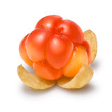 Single cloudberry, Clipping paths Royalty Free Stock Image