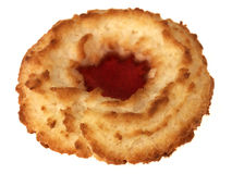 Single Coconut Jam Ring Biscuit Stock Photography