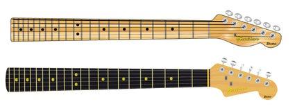 Single Coil Guitar Necks Royalty Free Stock Photo