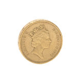 Single coin from great britain Royalty Free Stock Photo