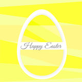 Single Colorful Easter Egg on background Stock Photo