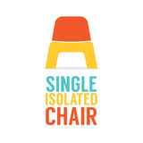 Single Colorful Plastic Chair On White Background Royalty Free Stock Photos