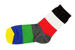 Colorful sock Stock Image