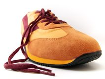 Single Colourful Shoe. Close-Up on Single Sport Shoe Royalty Free Stock Images