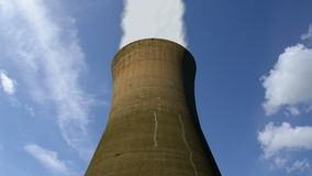 Single Cooling Tower stock footage