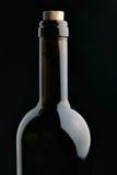 Single Corked Bottle Stock Photo