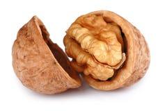 Single Cracked Walnut isolated Stock Image