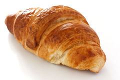 Single crispy croissant Royalty Free Stock Photography