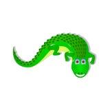 Single crocodile on white background Stock Photos