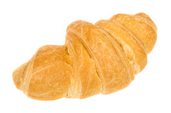 Single croissant isolated on white Stock Images