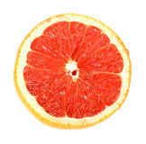Single cross section of grapefruit Royalty Free Stock Photos