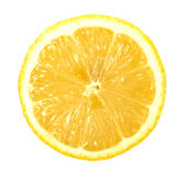 Single cross section of lemon Stock Photo