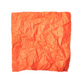 Single crumpled paper sheet isolated Stock Photography