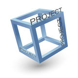 Single cube project Royalty Free Stock Photos