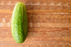 Single Cucumber Royalty Free Stock Image
