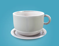 Single Cup. A 3D mini cups placed on a bluish background Stock Photo